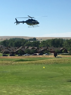 Helicpoter ball drop to support Sheridan High School Golf Team
